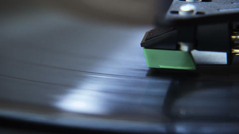 Macro Record Player Stylus Footage