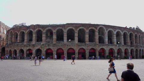 World famous Arena of Verona Footage