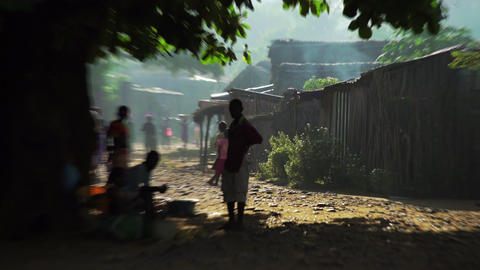 Madagascar village Footage