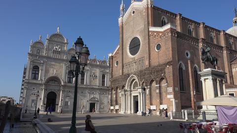 Basilica Santi e Giovanni e Paolo in Venice Footage