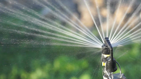 Water spray system - close up Footage