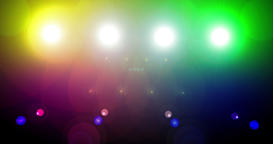Loop-able flashing disco stage lights, Multicolored, Could be used on a big scre Footage