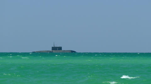 Submarine At The Sea Footage