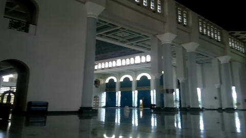 Modern and unique architecture style in the Al-Akbar Mosque, Surabaya, Indonesia Footage
