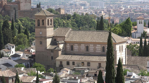 Historical Medieval Spanish Church Or Cathedral Live Action