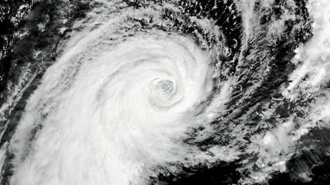 Cyclone - Hurricane - Typhoon with alpha matte(2k resolution, ProRes codec) Animation