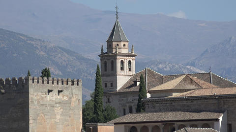 Alhambra Bell Tower Of Spanish Castle Live Action