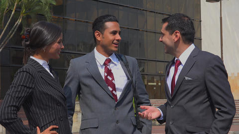 Business People Or Coworkers Socializing Footage