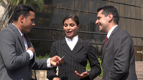 Business People Meet Shake Hands Exchange Business Cards Footage