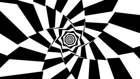 Rotating geometric black and white background loop Animation