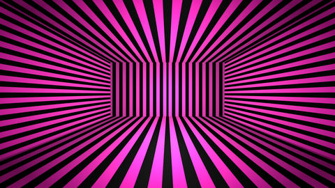 Abstract 3D background with multicoloured stripes. Seamless loop Animation