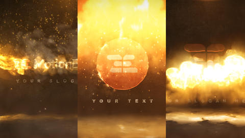 Quick Fire Logo Pack 3 After Effects Template