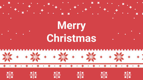 New Year and Merry Christmas festive pixel pattern for holiday. Traditional Lapland vector pattern Animation