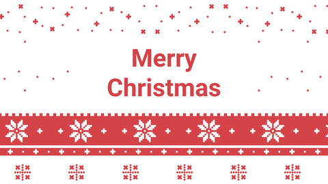 New Year and Merry Christmas festive pixel pattern for... Stock Video Footage