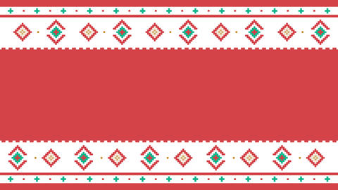 Traditional Lapland vector pattern, Sami people folk art... Stock Video Footage