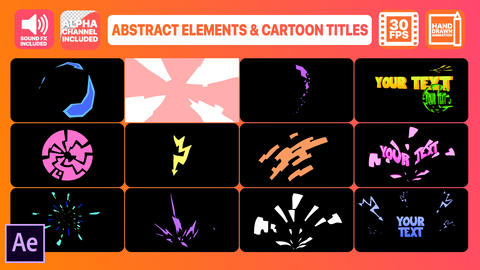 Abstract Geometric Shapes And Titles Plantilla de After Effects