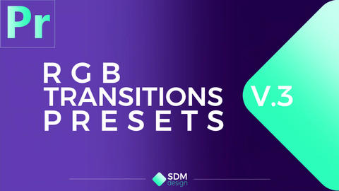 RGB Transitions Pack V.3 Plantillas de Premiere Pro