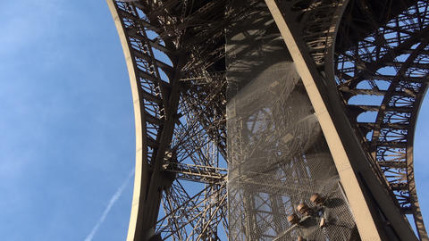 Detail of the Eiffel Tower Building Live Action