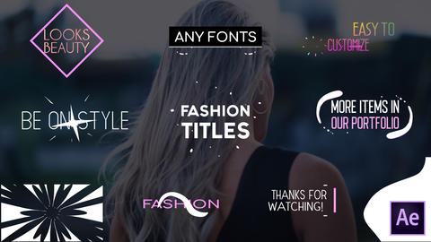 Fashion Titles Collection After Effects Template
