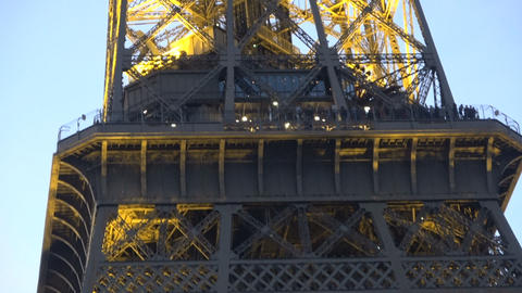 Eiffel Tower during Nightfall - Zoom in Live Action