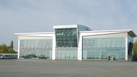Facade Of The Airport Building Live Action