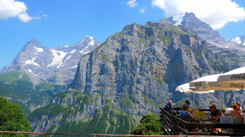 The impressive mountains of the Swiss Alps - SWISS ALPS, SWITZERLAND - JULY 20 Live Action