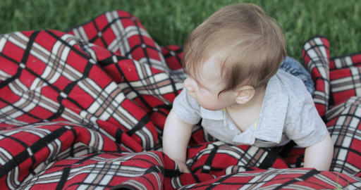 Baby boy on the blanket Live Action