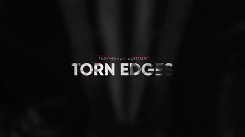 Titles Animator - Torn Edges Apple Motion Template