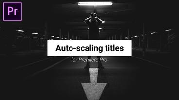 Titles & Lower Thirds Motion Graphics Template
