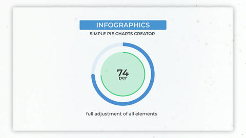 Simple Pie Charts Creator Motion Graphics Template