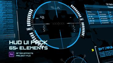 HUD UI Elements Pack After Effects Template
