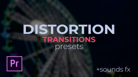 Distortion Transitions Plantillas de Premiere Pro