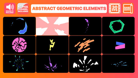 Abstract Geometric Shapes Premiere Pro Template