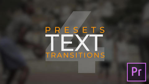 Text Transitions V.4 Plantillas de Premiere Pro