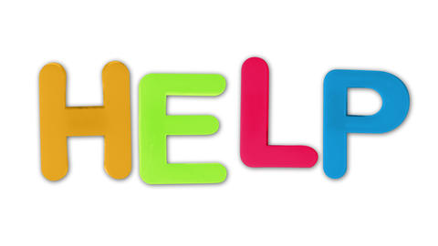 written help animated with plastic letters, childhood and adult theme Live Action