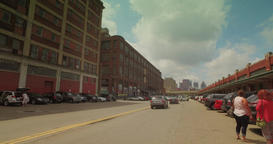 Driving Through the Strip District in Pittsburgh Footage