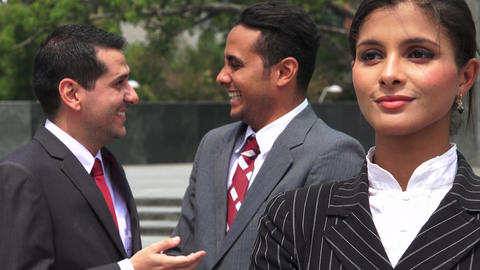 Business Men Ridicule Female Coworker Live Action