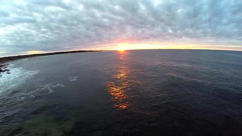 Atlantic Ocean Sunset Footage