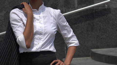 Professional Woman Posing Business Outfit Footage