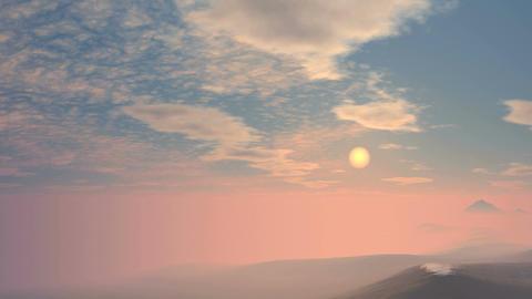 Sunrise From Fog Animation