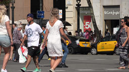 Pedestrians Walking Across The Street, Live Action