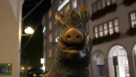 The Boar Statue Outdoors Live Action