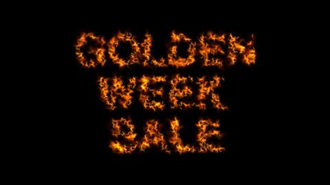 Golden week sale banner Animation