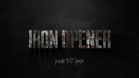 Iron Text Opener Motion Graphics Template