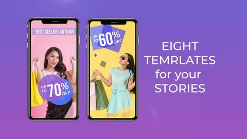 Super sale for Instagram stories Premiere Proテンプレート