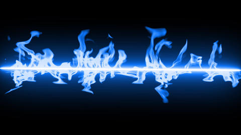 blue line Fire flame loop animation Videos animados