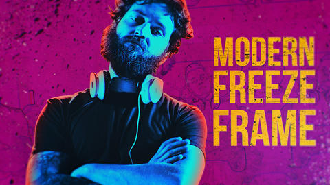Modern Freeze Frame Plantillas de Premiere Pro