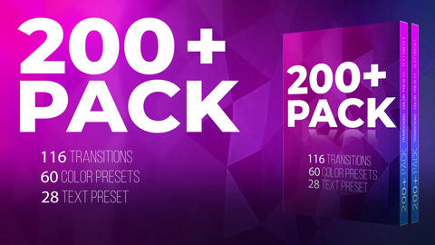 200 + Pack Transition Color Text Presets Ajuste preestablecido de Premiere Pro Effect