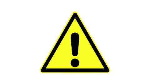 Warning symbol of a dangerous point, animated, footage ideal for special effects Live Action