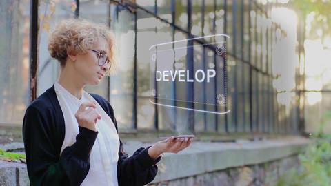 Blonde uses hologram Develop Live Action
